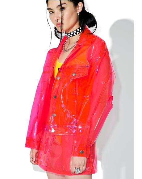 Crystalline Pink Transparent Jacket