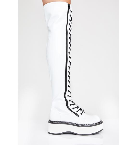 Demonia Icy Grand Stand Knee High Boots