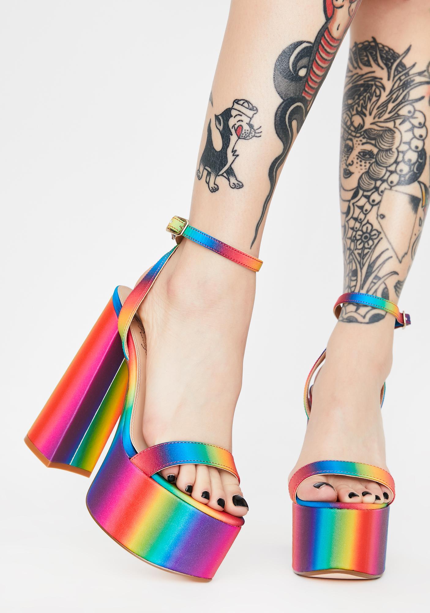 Lemon Drop by Privileged Rainbow Freema Platform Heels