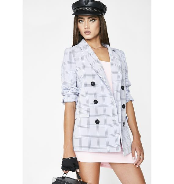 Down To Business Plaid Jacket