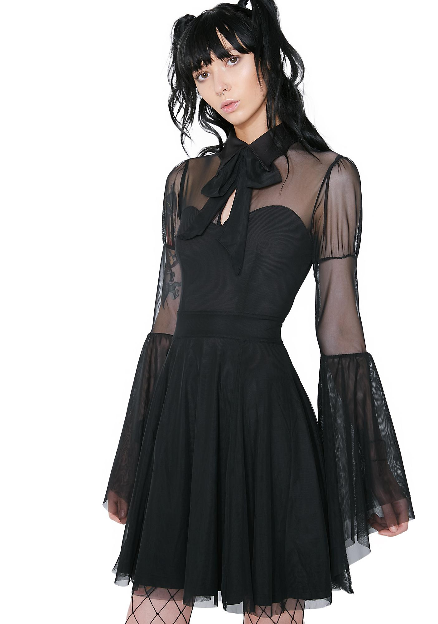 Killstar Bound By Blood Chiffon Dress
