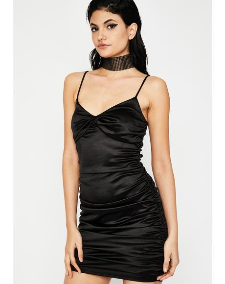 Midnight Divine Diva Satin Dress