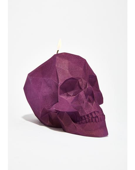 Face Melting Skull Candle
