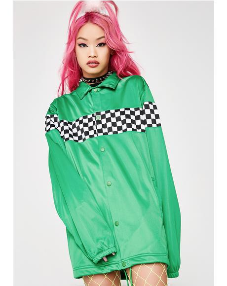 Checkered Track Jacket