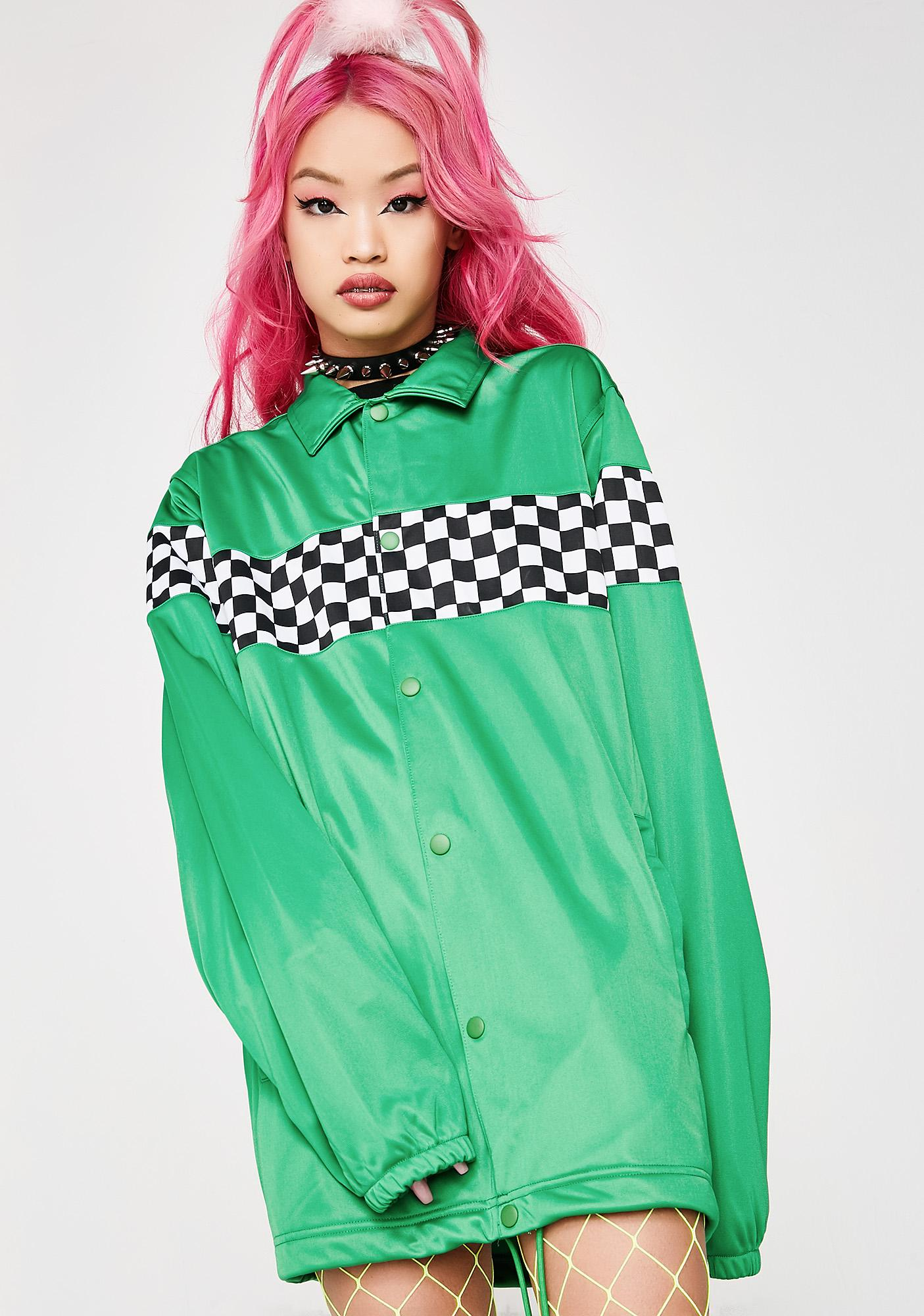 Pleasures Checkered Track Jacket