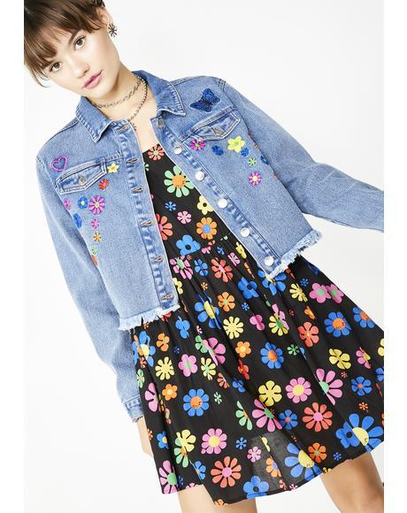 Flower Power Babydoll Dress