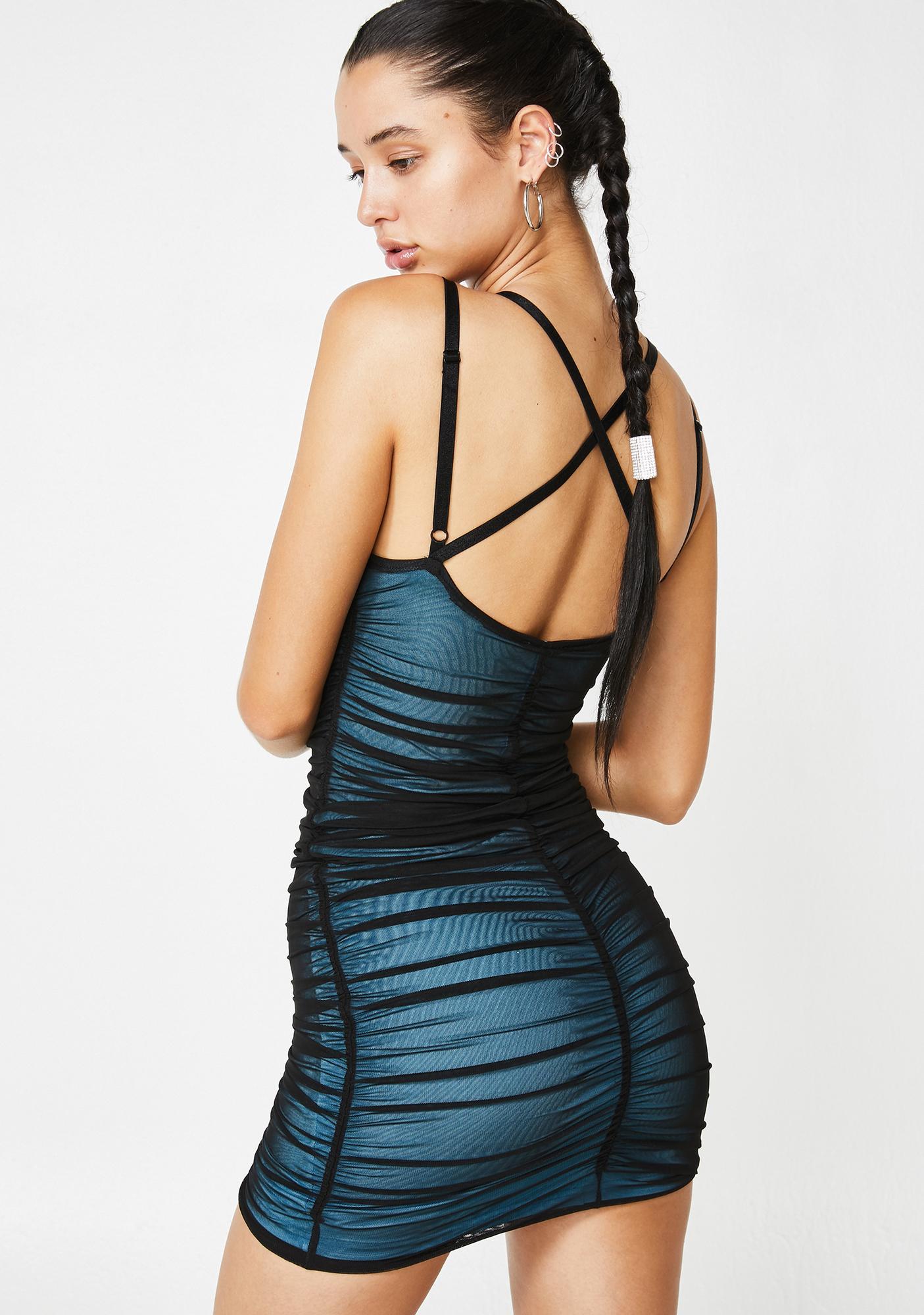 Poster Grl Swipe Right Mesh Dress