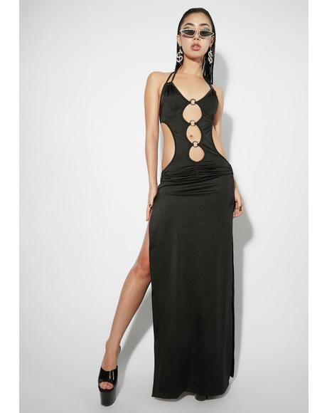 Midnight Priceless Paradise Maxi Dress