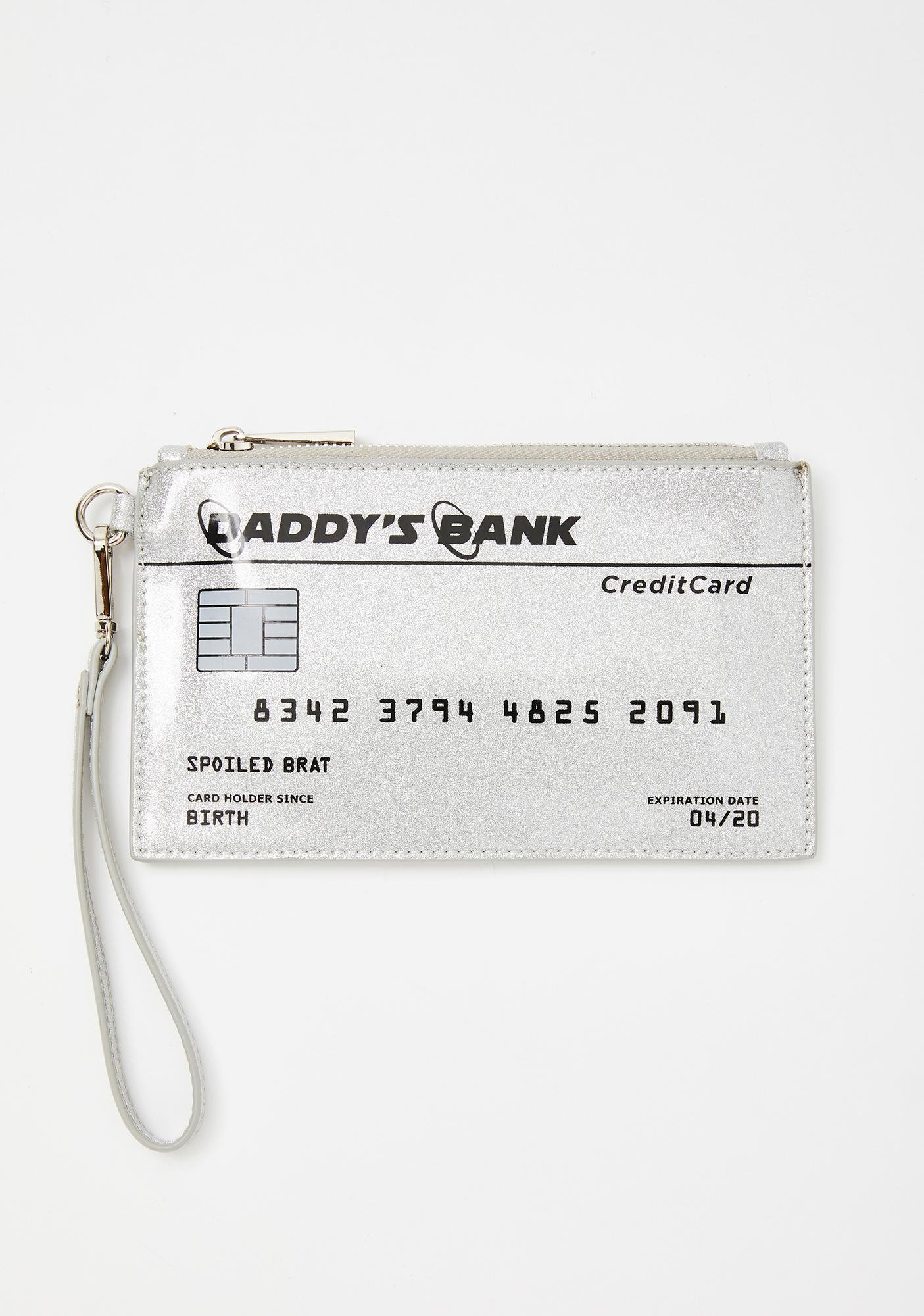 Poster Grl Daddy's Bank Glitter Purse