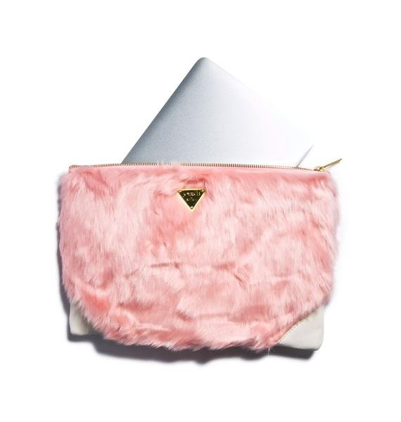 Joyrich Candy Fur Clutch Bag