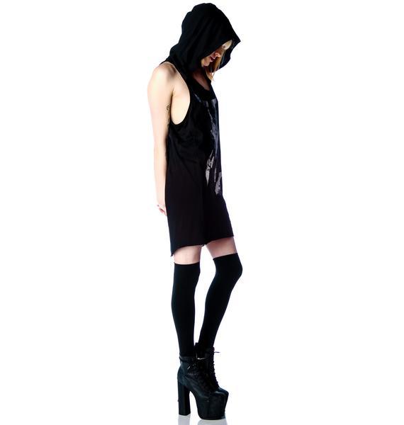 Widow Last Prayer Hooded Tank Dress