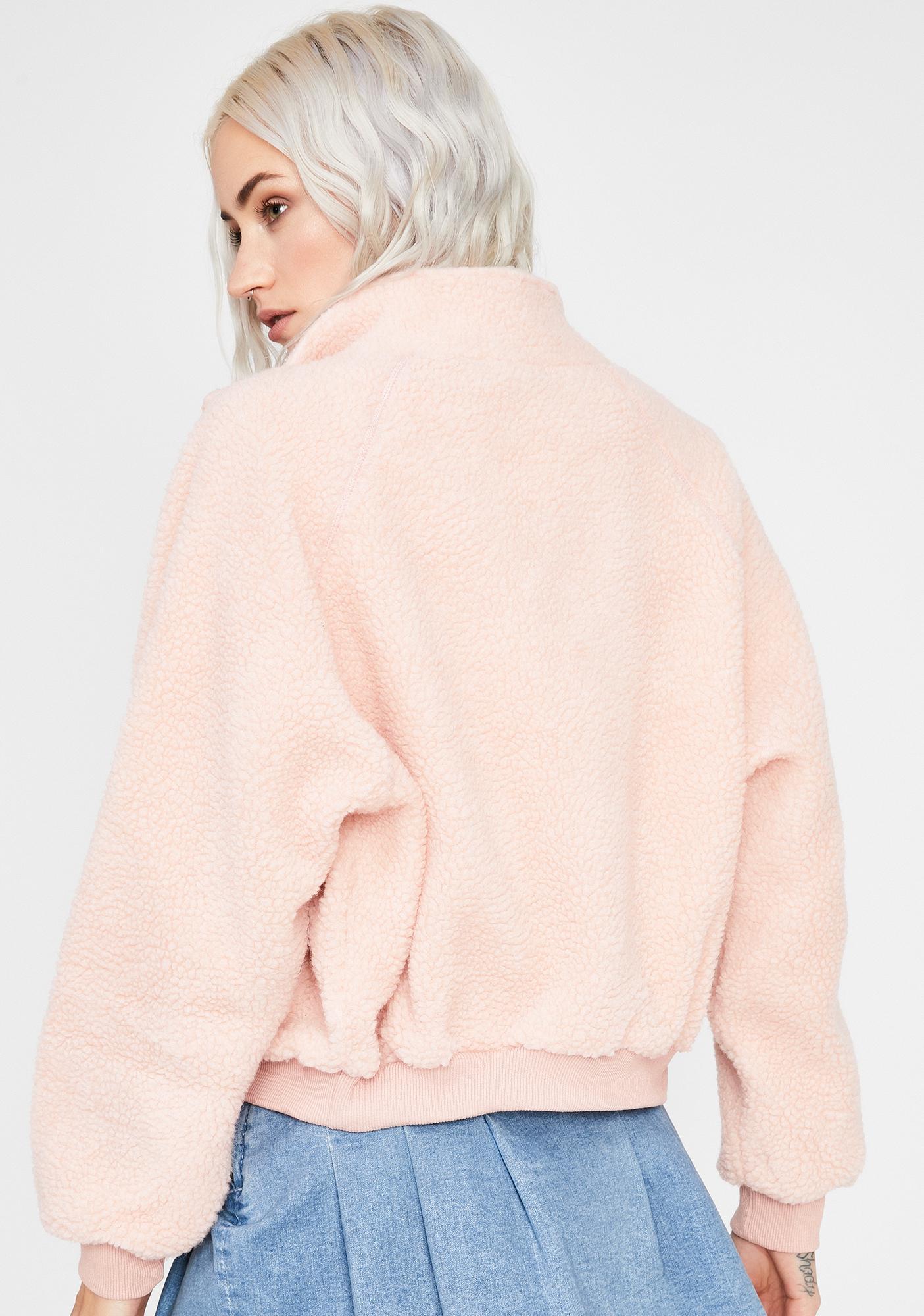 Blush Take Me Home Sherpa Jacket