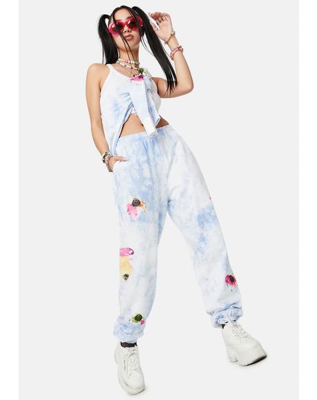 X Dessie Jackson Flowerbed Tie Dye Sweatpants