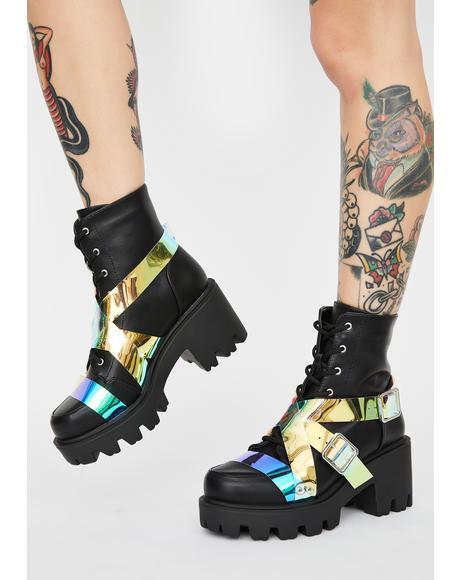 Cosmic Influencer Status Combat Boots