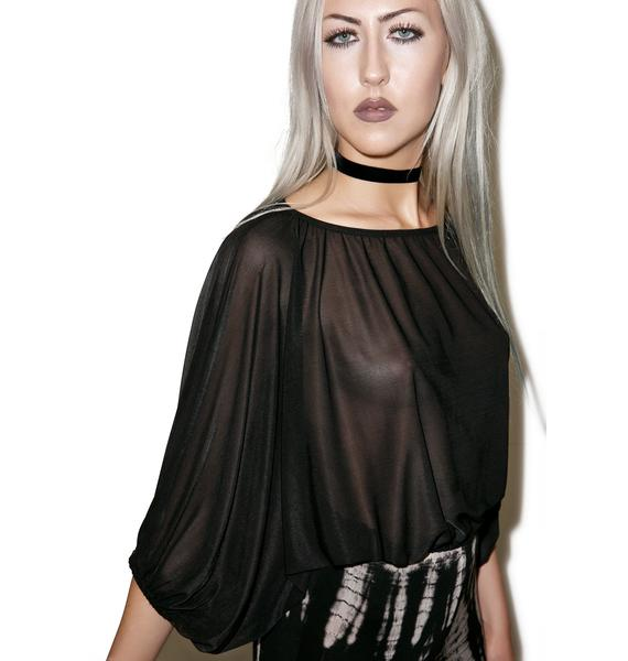 Widow Dead Again Oversized Top