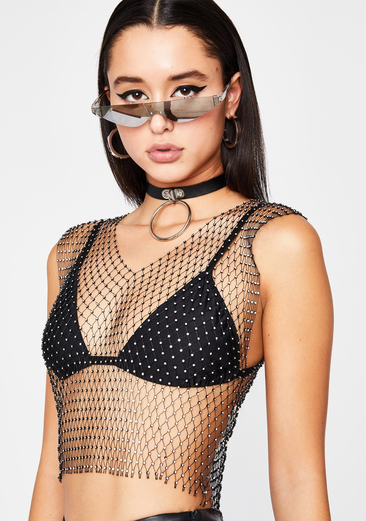 Date Bait Fishnet Top