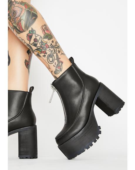Mega Million Zipper Boots
