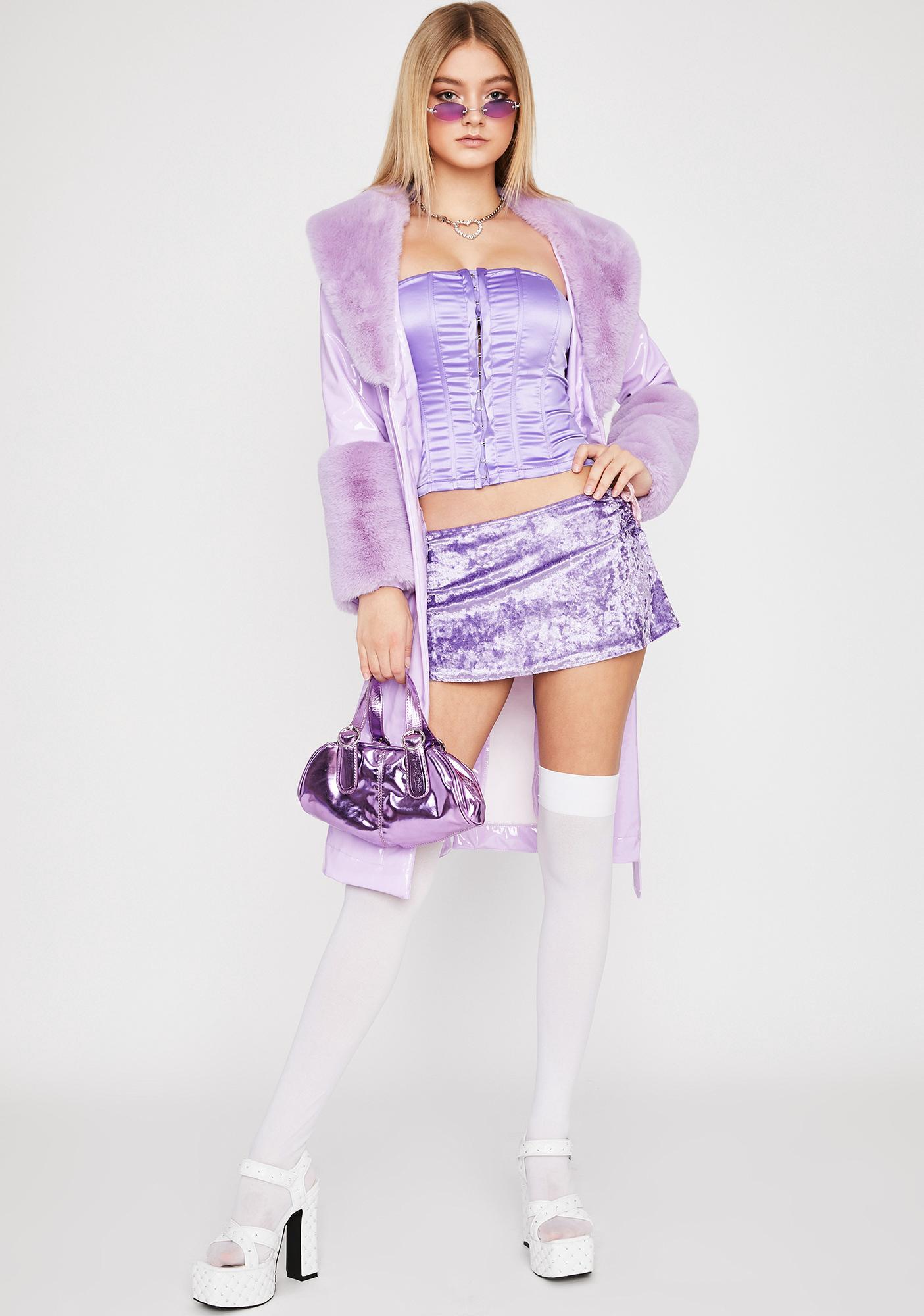 Violet Never Leave Ya Corset Top