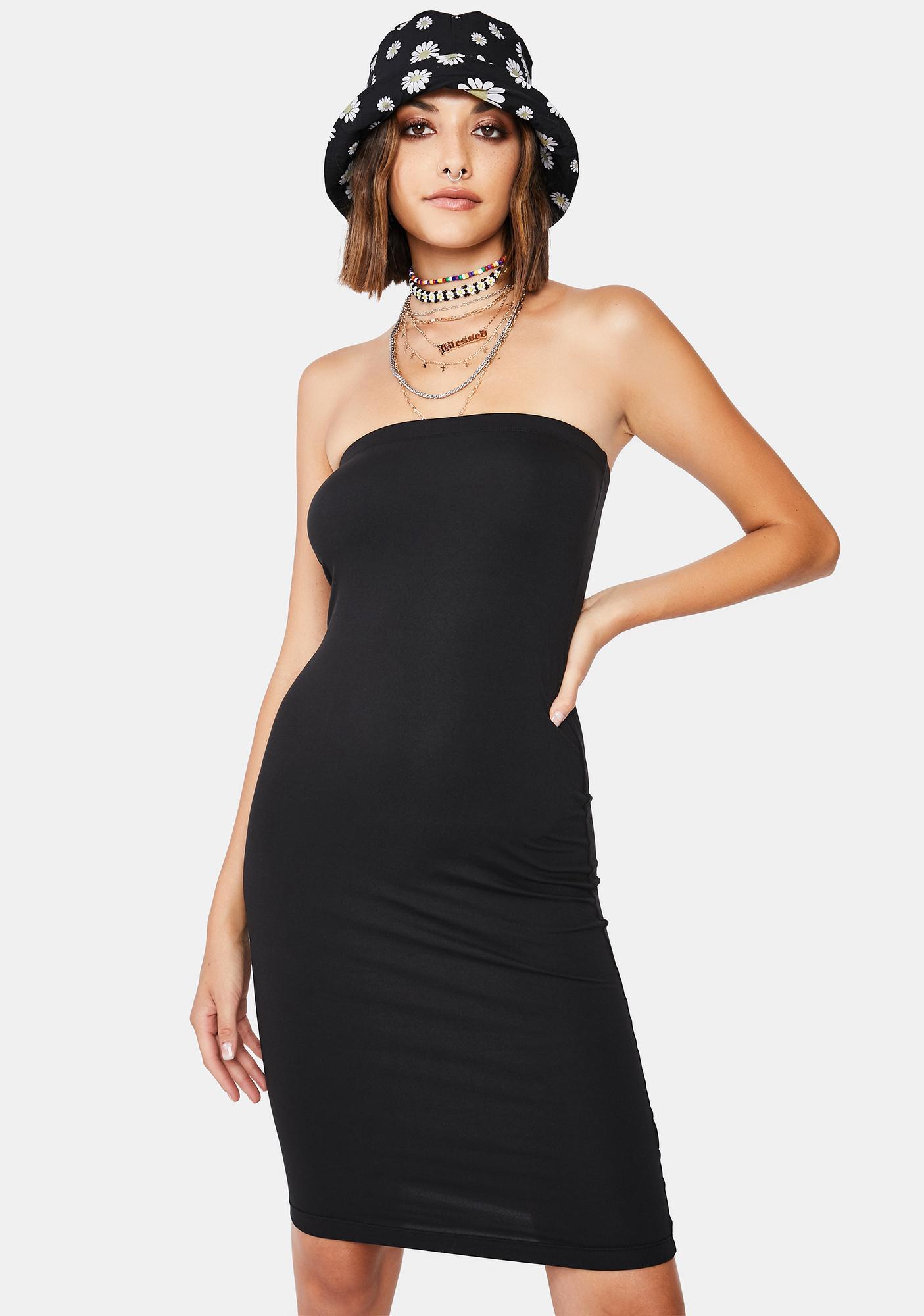 Noir Next Level Babe Tube Dress
