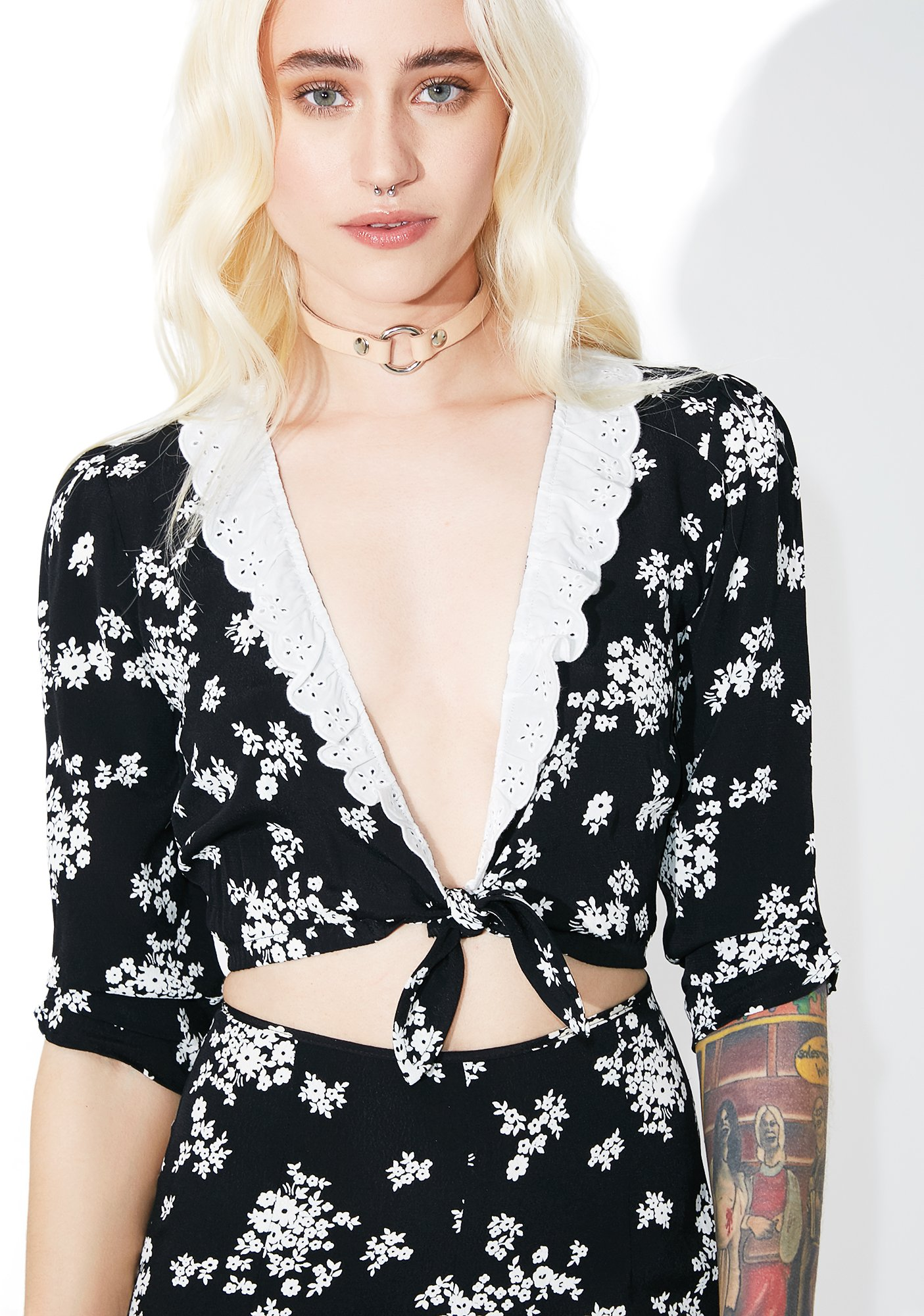 For Love & Lemons Dulce Crop Top
