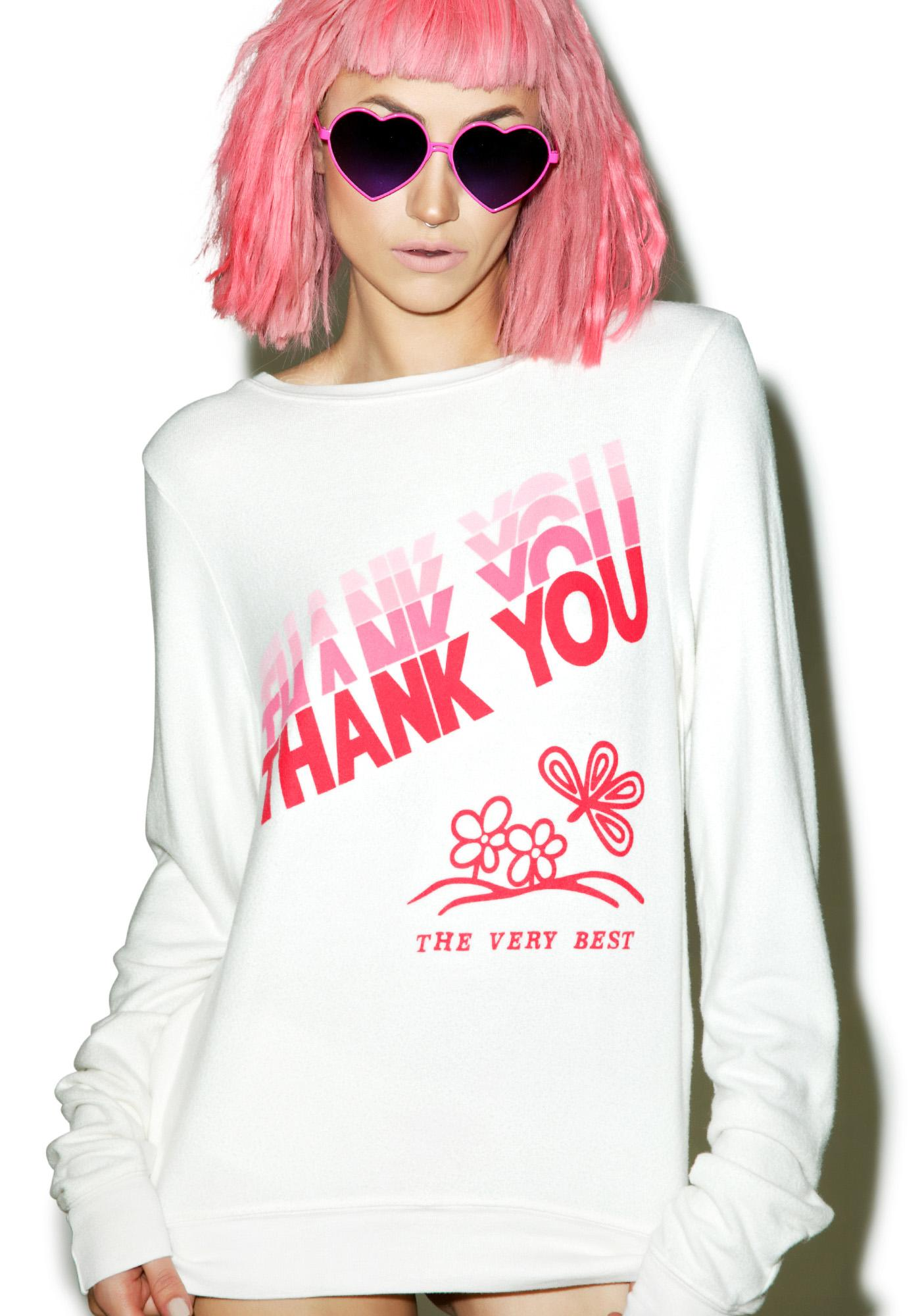 Wildfox Couture Thank You Baggy Beach Jumper