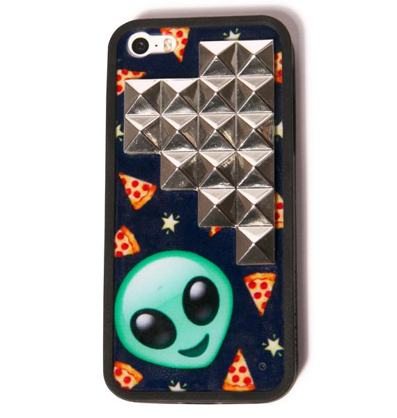 Wildflower Pizza In Space Studded iPhone 5/5S Case