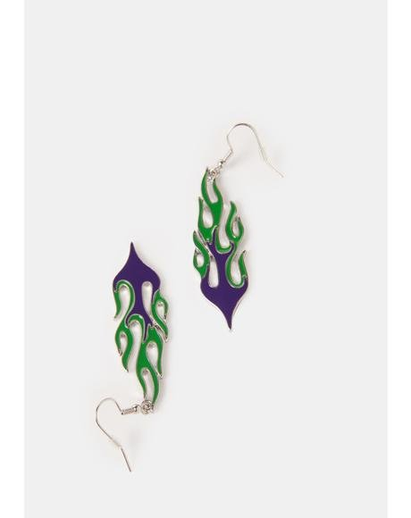 Messing With Fire Earrings