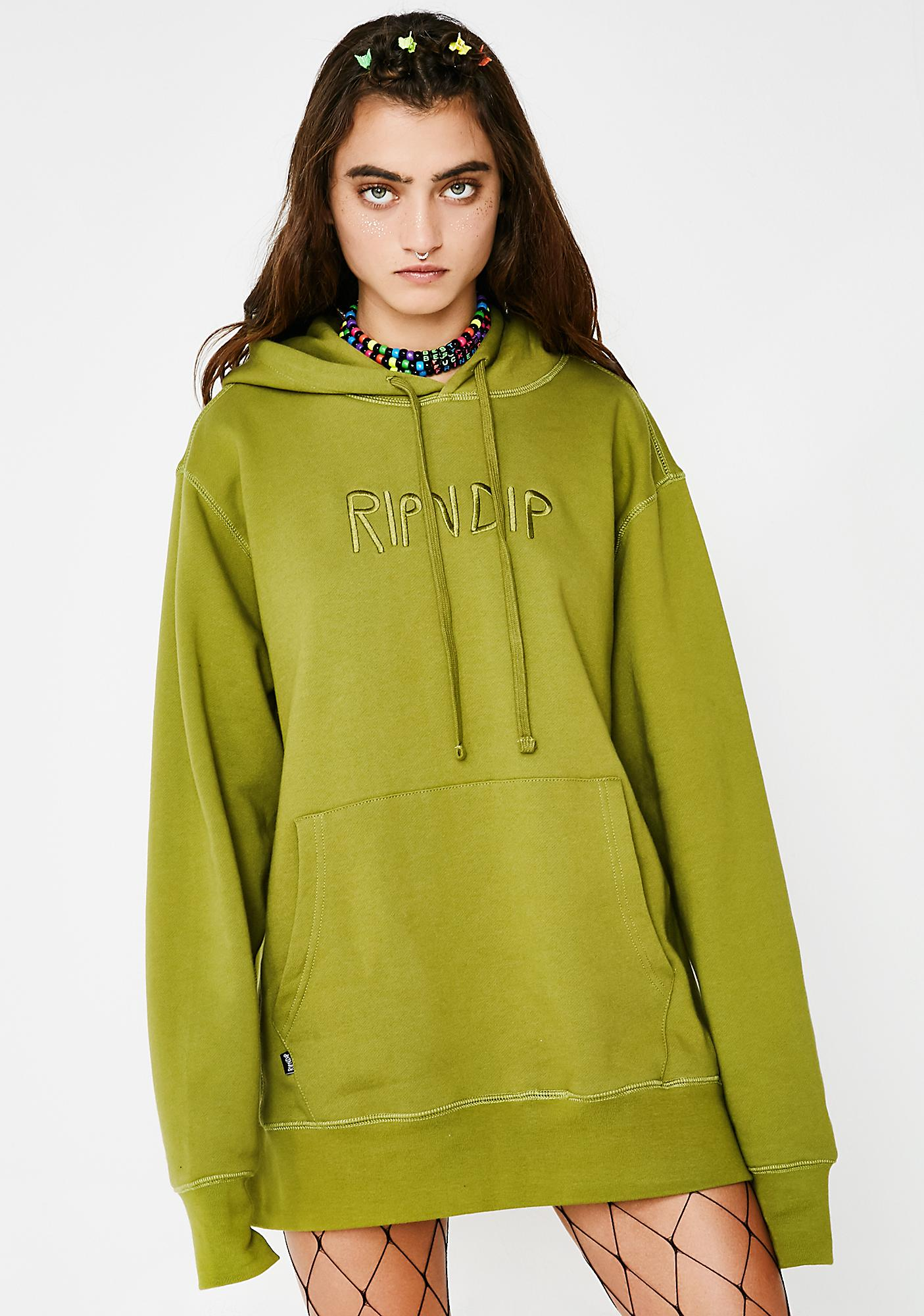 RIPNDIP Embroidered Logo Hoodie
