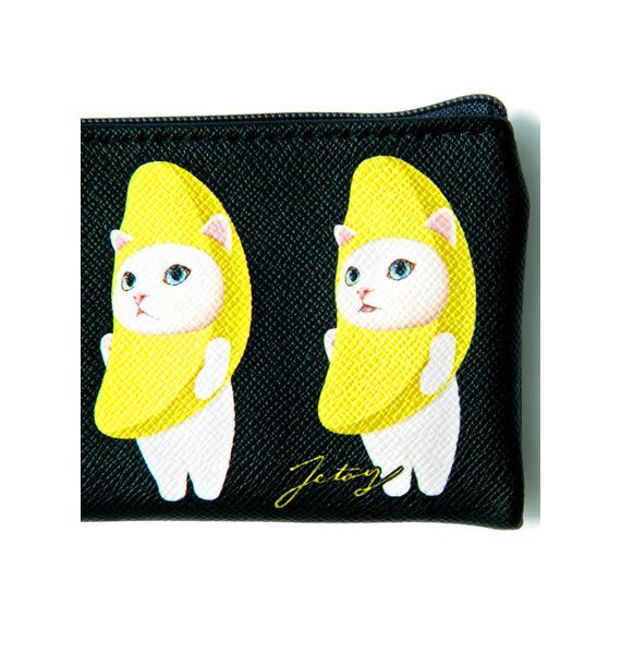 Jetoy Midnight Banana Cat Card Case