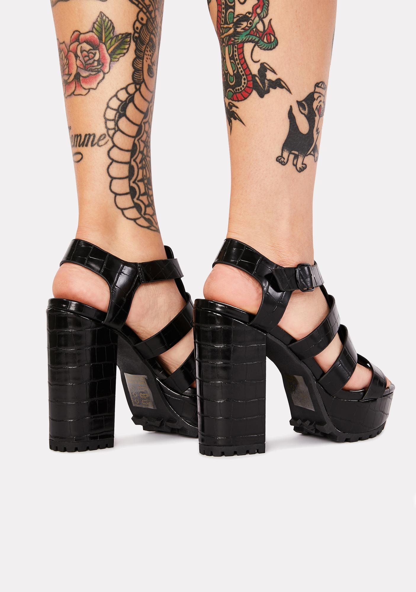 Bringing It Back Crocodile Heels
