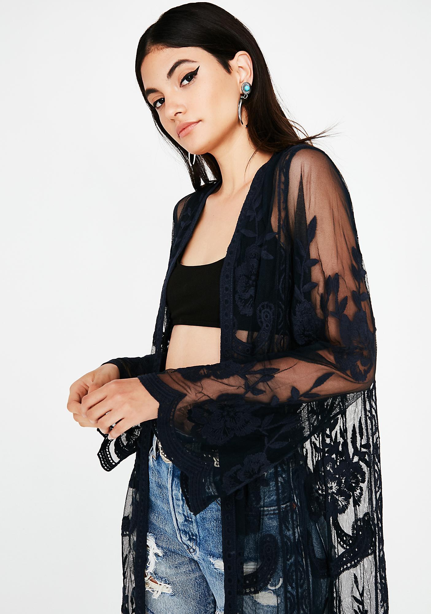 La Vie Boheme Lace Kimono