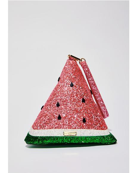 Sparkle Watermelon Clutch
