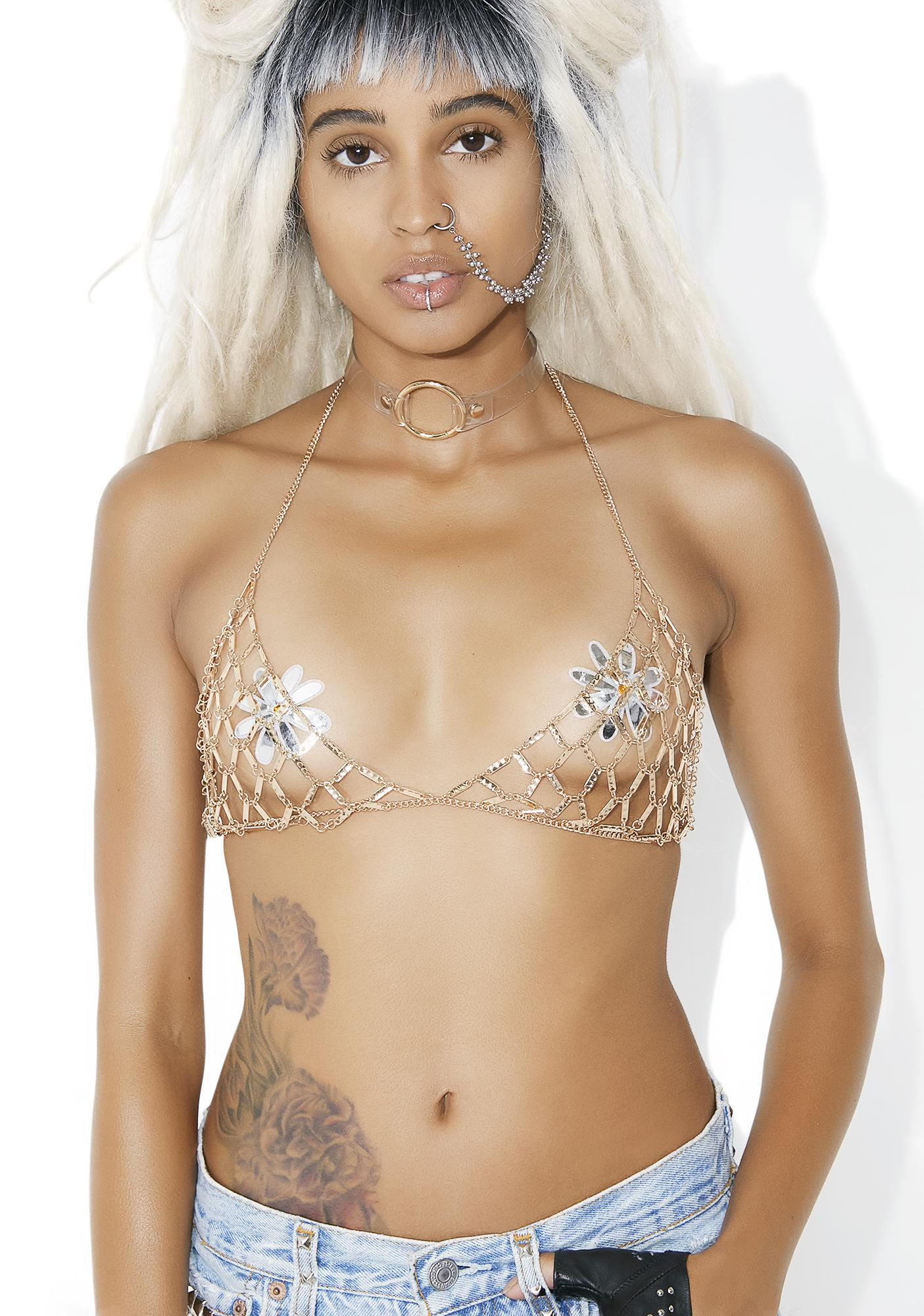 Treasure Hunt Gold Chain Bra