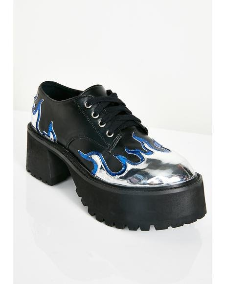 High School Hellcat Chunky Platforms