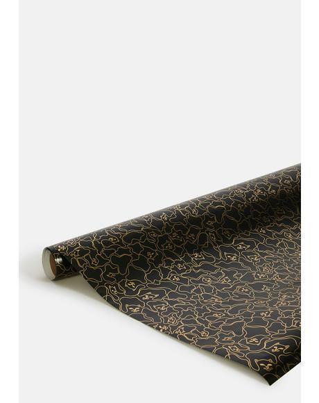 Nermal Line Camo Wrapping Paper