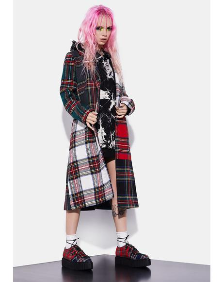 Taste Of Fury Plaid Coat