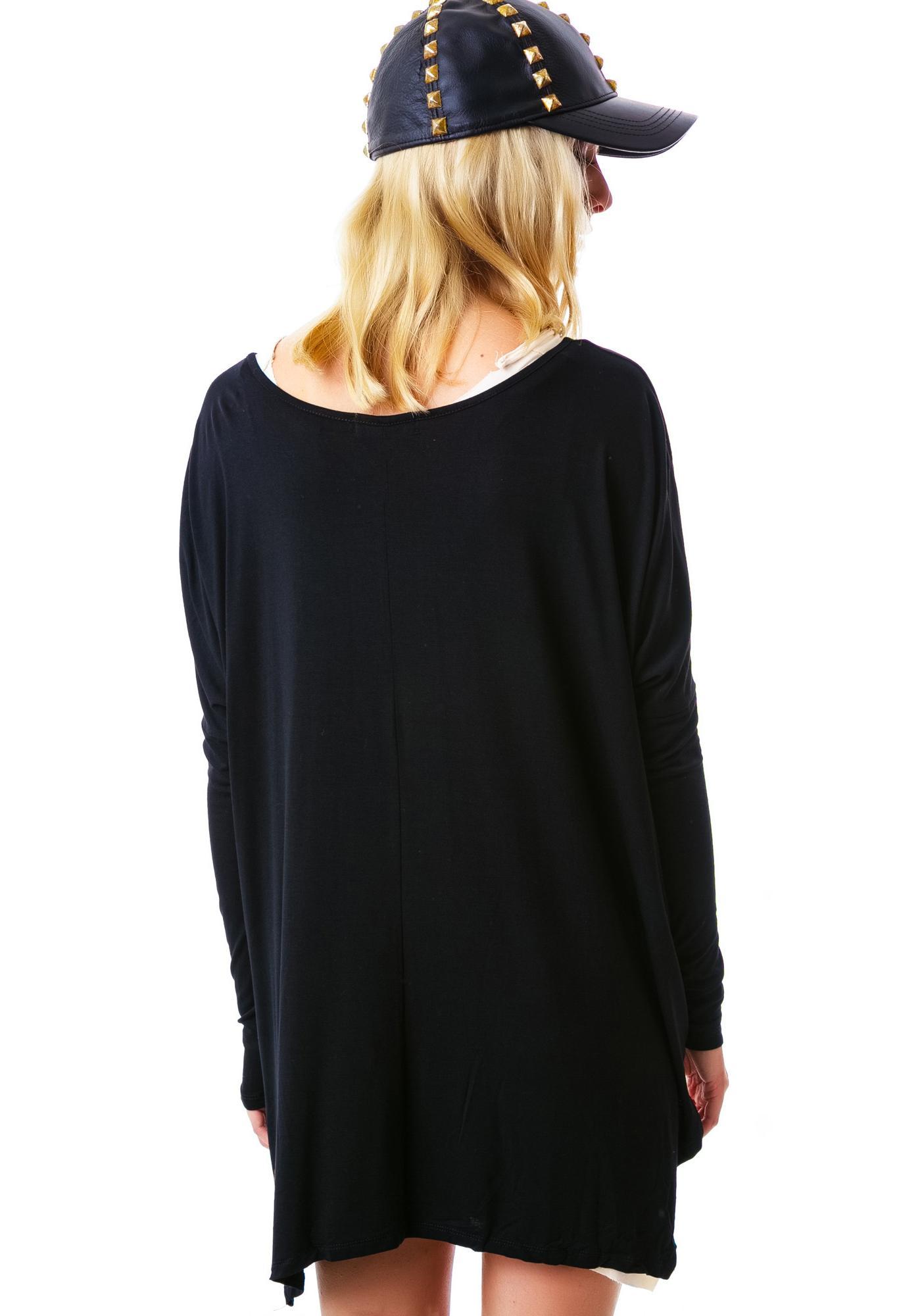 V Card Long Sleeve Top