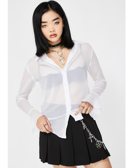 As Above So Below Sheer Blouse