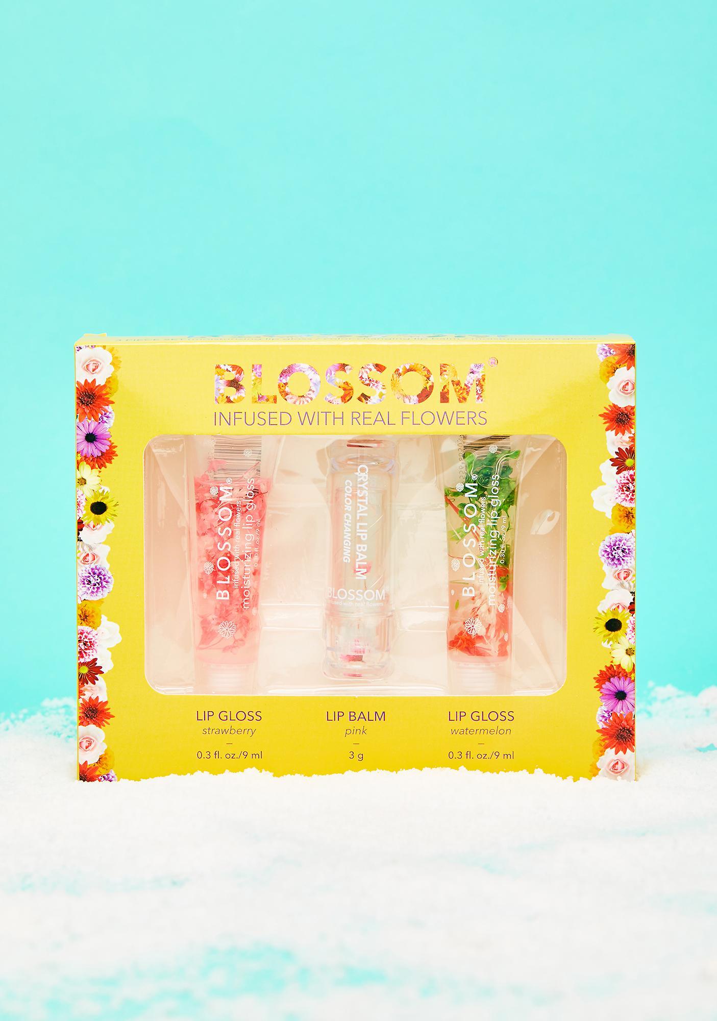 Blossom Moisturizing Lip Gloss N' Balm Gift Set