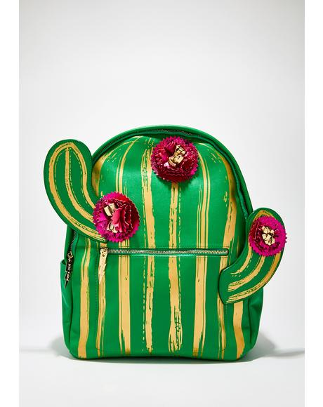 Kitsch Lookin Sharp Cactus Backpack