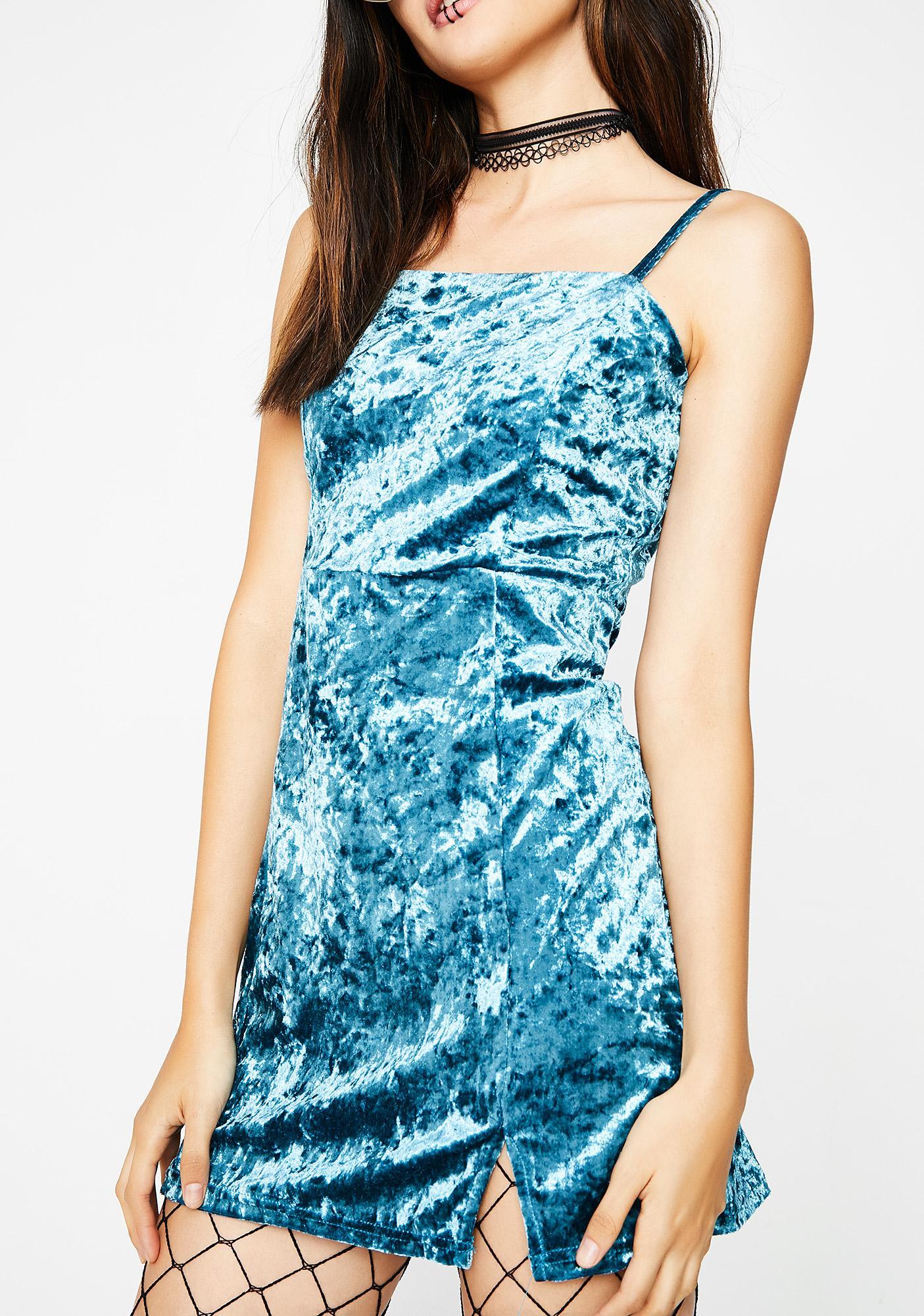 Blue Crush Velour Dress