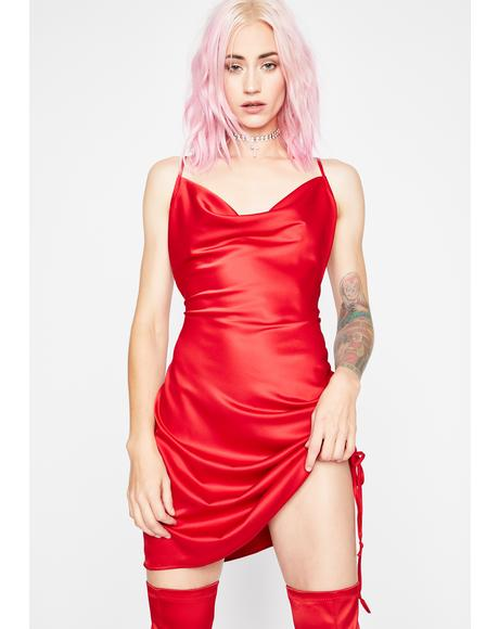 Bleeding Hearts Satin Dress