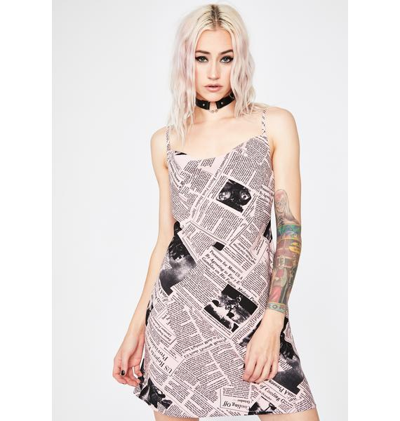 Bae Fake News Mini Dress