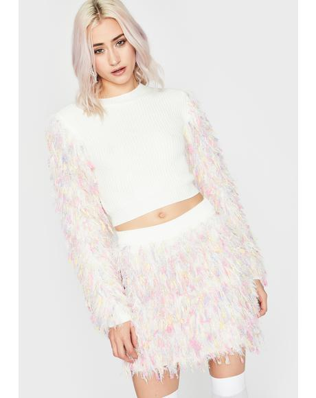 Confetti Couture Fuzzy Sweater