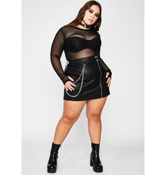 HOROSCOPEZ Total Manic Mindset Mini Skirt
