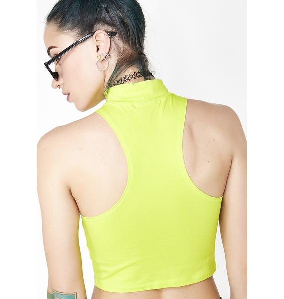 Current Mood Multiple Choices Mock Neck Top