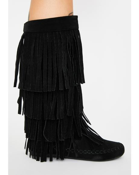 No Playtime Fringe Boots