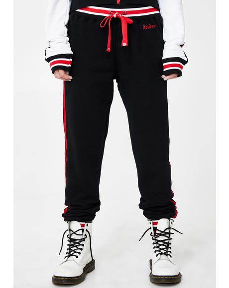 Embroidered Logo Slim Joggers