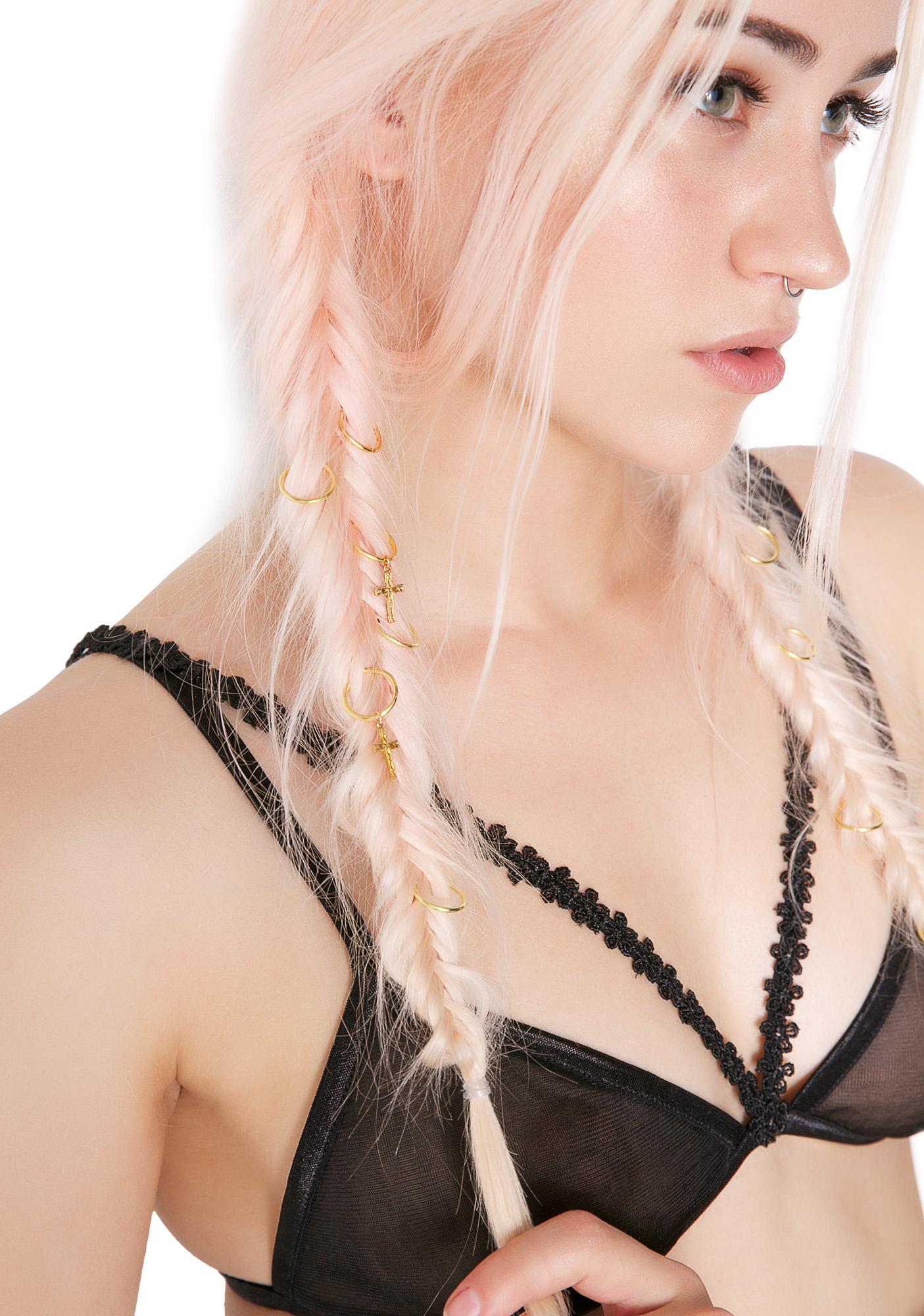 Regal Rose Cross Aeon Hair Rings