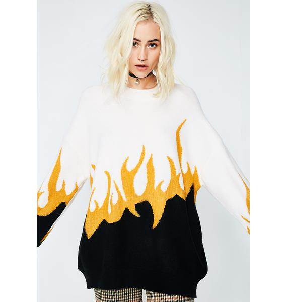 Wildfox Couture Fired Up Hex Sweater